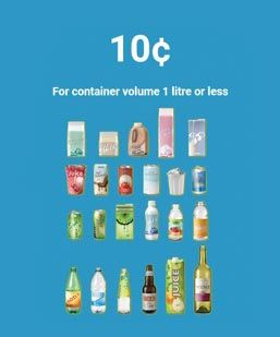 10 Cents: 1 Litre & Less